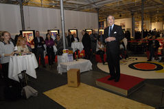 西班牙旅行社庆祝50在丹麦听见 库存照片