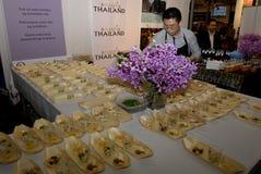 西班牙旅行社庆祝50在丹麦听见 免版税库存照片