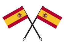 西班牙旗子象 免版税库存图片