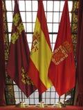 西班牙旗子 免版税库存照片