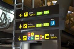 西班牙机场 库存照片