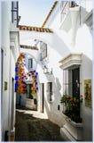 西班牙村庄在巴塞罗那 免版税图库摄影