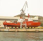 西班牙极性研究船,卡塔赫钠 免版税库存照片
