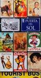 西班牙标志拼贴画  免版税图库摄影