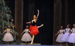 西班牙样式女孩第二个行动第二领域糖果王国-芭蕾胡桃钳 库存图片