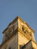 西班牙桔子和钟楼 库存图片