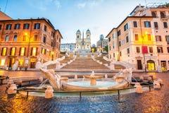 西班牙楼梯在罗马,意大利 免版税图库摄影