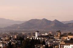 西班牙横向 免版税图库摄影