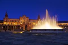 西班牙正方形的宫殿在塞维利亚西班牙 图库摄影