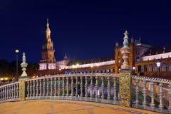 西班牙正方形的宫殿在塞维利亚西班牙 免版税库存照片