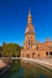 西班牙正方形的宫殿在塞维利亚西班牙 库存图片