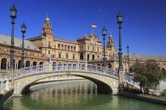 西班牙正方形, Plaza de西班牙在塞维利亚 免版税库存图片