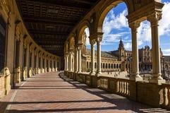 西班牙正方形 免版税库存照片