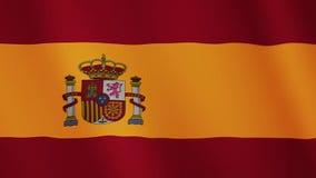 西班牙沙文主义情绪的动画 整个银幕 国家的标志 向量例证