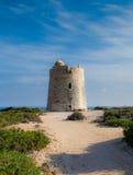 西班牙沿海塔 库存照片