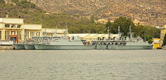 西班牙海军,卡塔赫钠 免版税库存照片