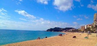 从西班牙海岸的地中海看法 免版税库存图片