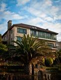 西班牙海边房子 库存照片