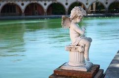 西班牙温泉渡假胜地的罗马浴在塔拉贡纳 免版税图库摄影
