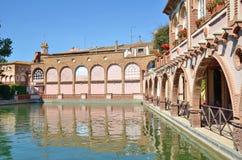 西班牙温泉渡假胜地的罗马浴在塔拉贡纳 库存图片