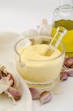 大蒜蛋黄酱调味汁。 Alioli。 图库摄影