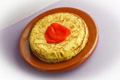 西班牙煎蛋 库存图片