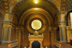 西班牙犹太教堂在布拉格,捷克 免版税库存照片