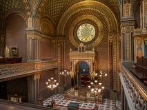 西班牙犹太教堂在布拉格 库存图片