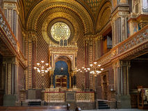西班牙犹太教堂在布拉格 免版税库存照片
