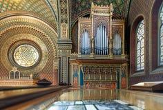 西班牙犹太教堂在布拉格 图库摄影
