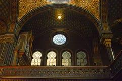 西班牙犹太教堂,布拉格,捷克 免版税库存照片