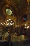 西班牙犹太教堂,布拉格,捷克 库存图片