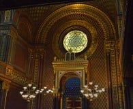 西班牙犹太教堂,布拉格,捷克 图库摄影