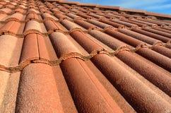 西班牙瓦屋顶 免版税图库摄影