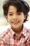 年轻西班牙男孩画象 免版税库存照片
