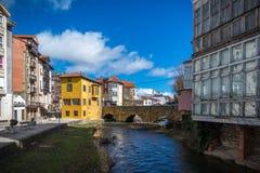 西班牙的北部历史城市 免版税图库摄影