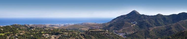 西班牙的南部的海岸 免版税库存照片
