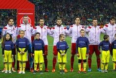 西班牙的国家橄榄球队 免版税图库摄影
