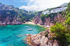 西班牙的地中海海岸 免版税库存图片