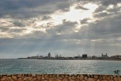 西班牙的塔拉贡纳港  库存照片