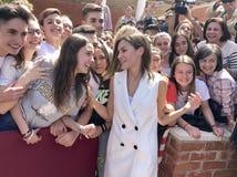 西班牙的女王莱蒂齐亚 库存照片