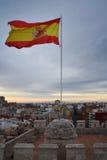 西班牙的旗子 免版税库存照片