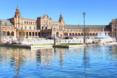 西班牙的正方形 免版税库存图片