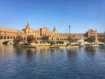西班牙的正方形 免版税库存照片