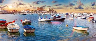 西班牙的沿海城市 卡斯特罗Urdiales 坎塔布里亚 免版税库存照片