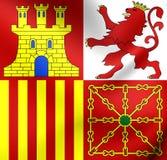 西班牙的海军杰克 免版税库存图片
