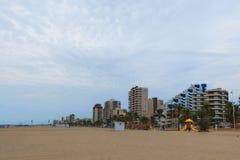 西班牙的海岸的旅馆 甘迪亚 免版税图库摄影