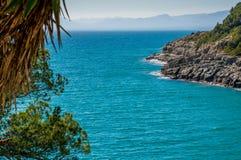 西班牙的海水海岸 免版税图库摄影