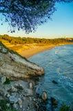 西班牙的海水海岸 免版税库存照片