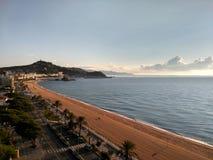 西班牙的海滩 免版税库存照片